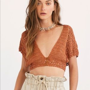 Frill Edge Crochet Crop Top